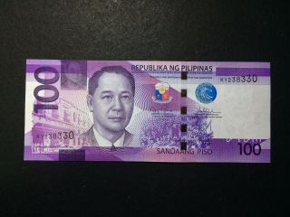Philippines 100 Pesos Ngc 2016 Banknote photo