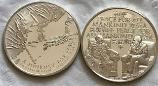 1972 Nixon Presidential Journey For Peace China Silver Medal photo