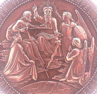 Apostleship Of Mary - Exceptional Antique Religious Art Medal By Ludovic Penin photo