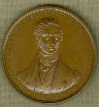 1837 Scottish Medal To Commemorate Sir Robert Peel Rector Of Glasgow University photo