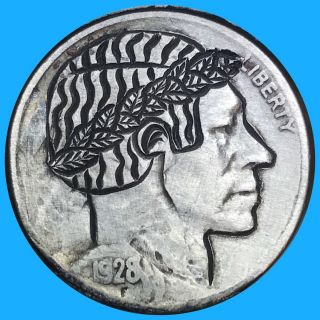 Hobo Nickel Coin Art Roman 56 photo