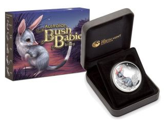 Australian 2010 50c Bush Babies Bilby 1/2 Oz Proof Silver Coin Limited photo