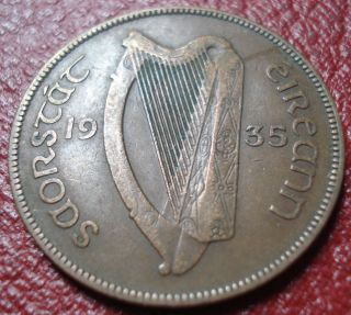 1935 Ireland Penny In Vf photo