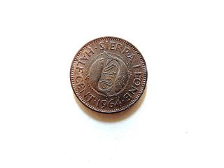 1964 Sierra Leone Half (1/2) Cent Coin photo