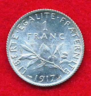 France 1917 Franc.  1342 Ounces Of Silver photo