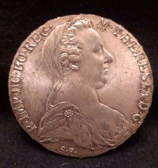 1780 Austria Silver Thaler,  Maria Theresia,  Restrike,  Km - T1 (?) photo