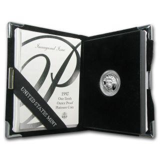 1/10 Oz Proof Platinum American Eagle (random Year,  W/box &) - Sku 60189 photo
