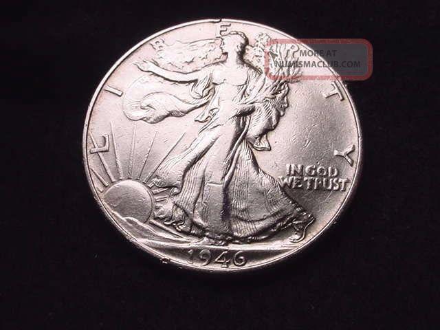 1946 Walking Liberty Half Dollar Coin - - 5013 Liberty Walking (1916-47) photo