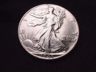 1946 Walking Liberty Half Dollar Coin - - 5013 photo