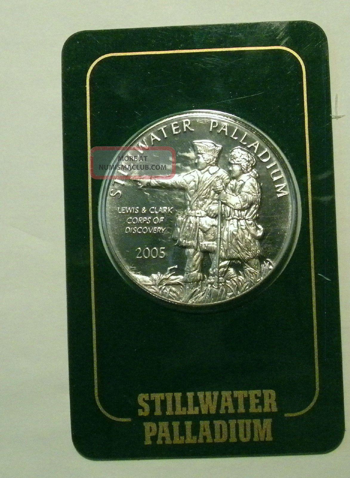 2005 Stillwater Lewis Amp Clark 1 Oz 9995 Palladium Coin