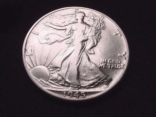 1945 Walking Liberty Half Dollar Coin - - 5011 photo