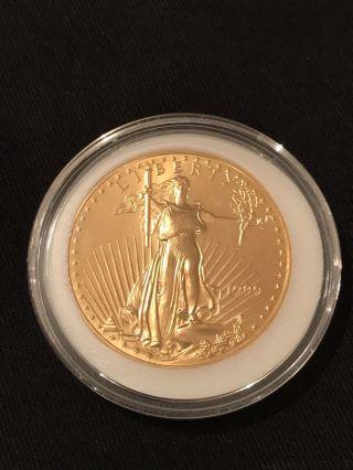 1999 American Eagle 1oz Fine Gold Coin - photo