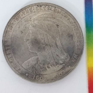443 - Hk 344 So - Called Dollar - 1607 - 1907 Jamestown Settlement - Silver photo
