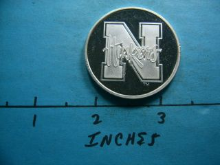 Nebraska 1995 National Ncaa Football Champs Fiesta Bowl Vintage 999 Silver Coin photo