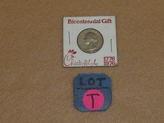 Chick - Fil - A Bicentennial Gift - 1776 - 1976 Quarter In 2 X 2 - Nr - T photo