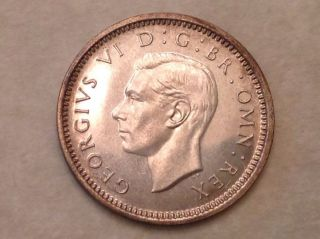 - 1937 Great Britain George Vi Silver Threepence Choice Proof - Priced photo