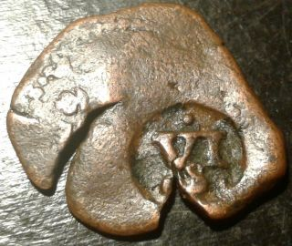 Rare 17th Century Pirate Spanish Rx Cob Coin Of King Philip Found On Oak Island photo