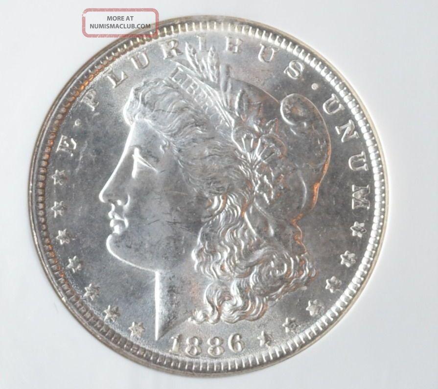 1886 - P Ngc Ms64 Morgan Dollar 3137700 - 089 Still Frosty Dollars photo