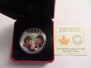 2016 Canada 1 Oz Proof Silver.  9999 Fine,  Star Trek,  Mirror Mirror,  Colorized photo