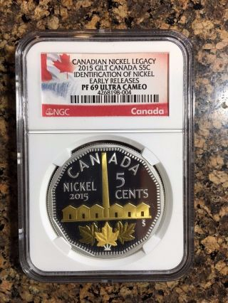 2015 Canada Silver 1oz Nickel Legacy Identification Early Releases Coin Pf69 Ngc photo