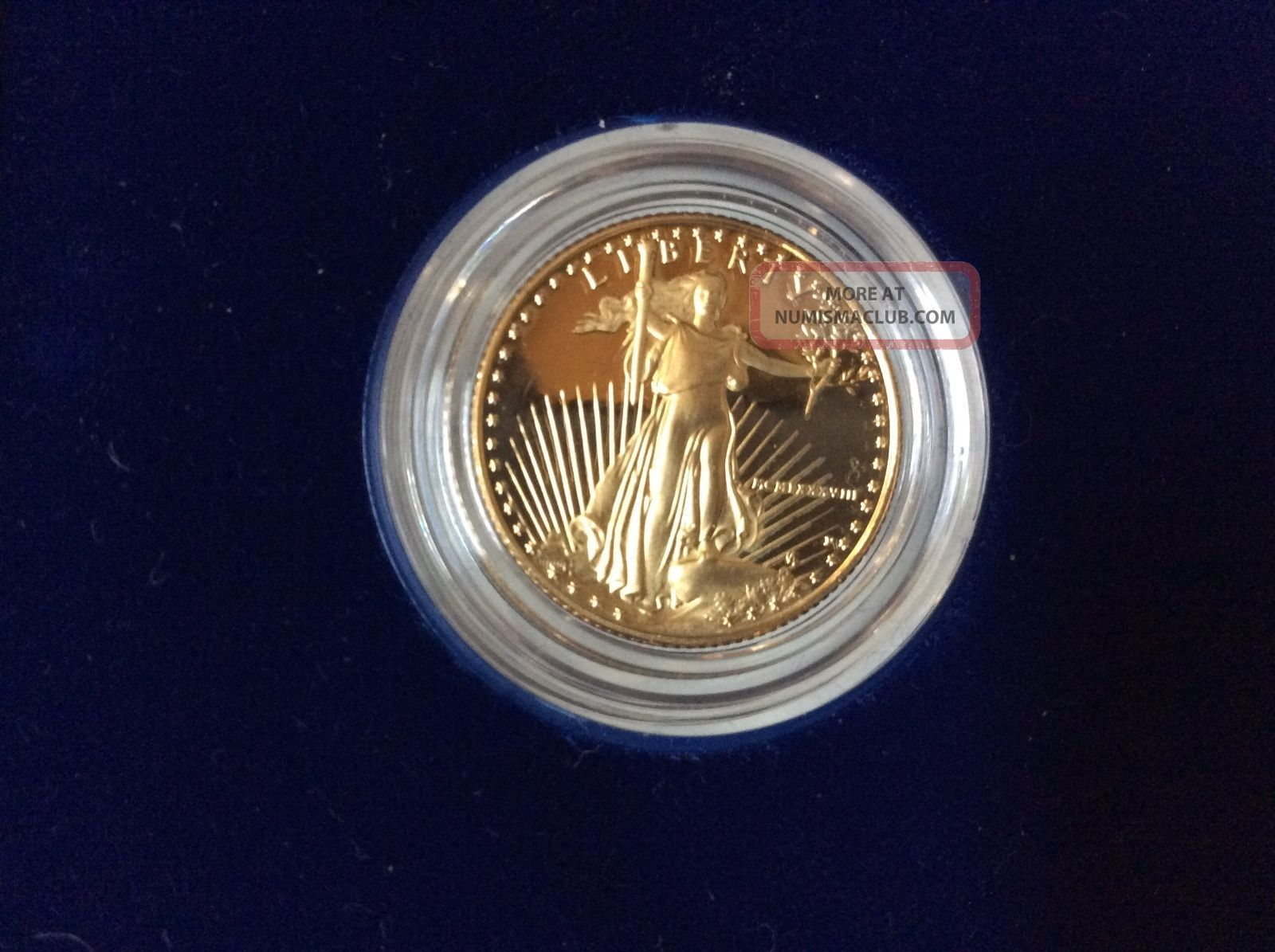 1988 Gold 1/4 Ounce Proof American Eagle W/box And Gold photo