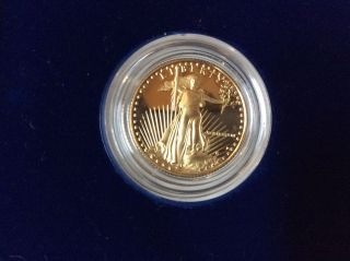 1988 Gold 1/4 Ounce Proof American Eagle W/box And photo
