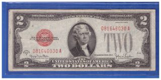 1928g $2 Dollar Bill Old Us Note Legal Tender Paper Money Currency Red Sl M880 photo
