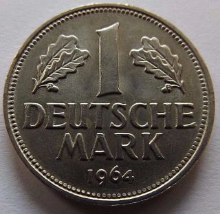 1964 - F Germany 1 Mark Xf - Au photo