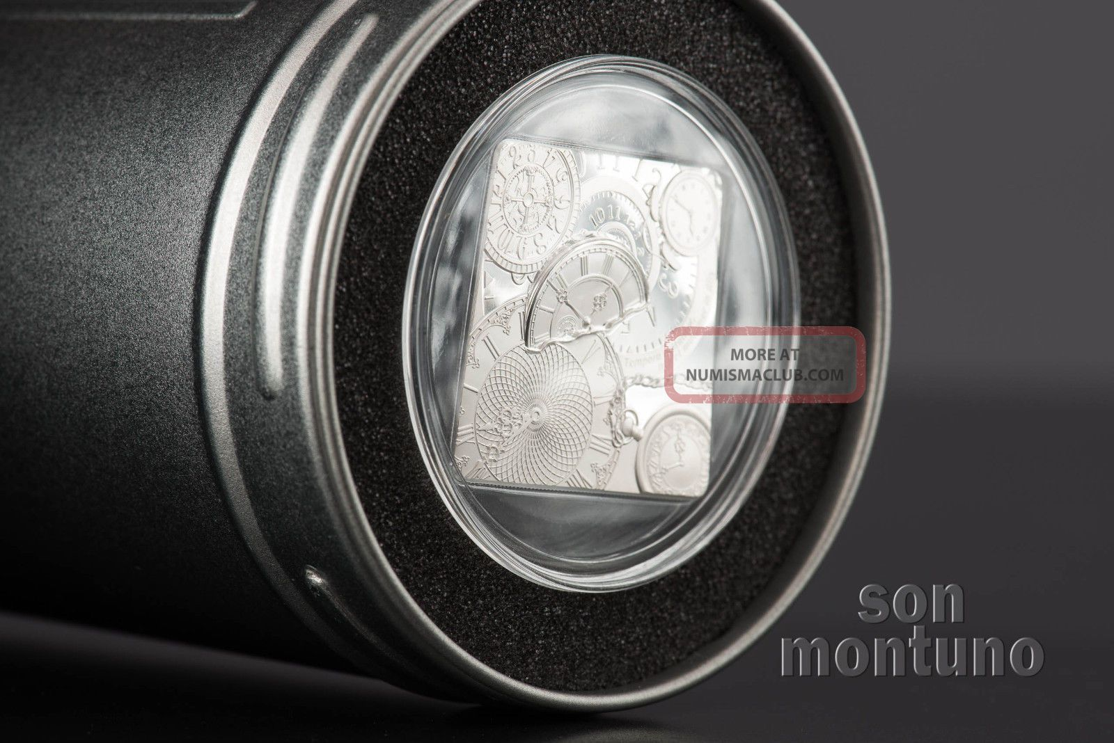 Time Capsule Coin 1 Oz Square Shaped Silver Proof Like