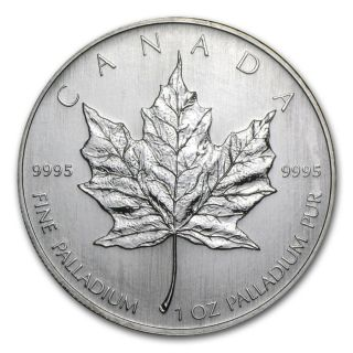 1oz Palladium Canadian Maple Leaf 2006 photo