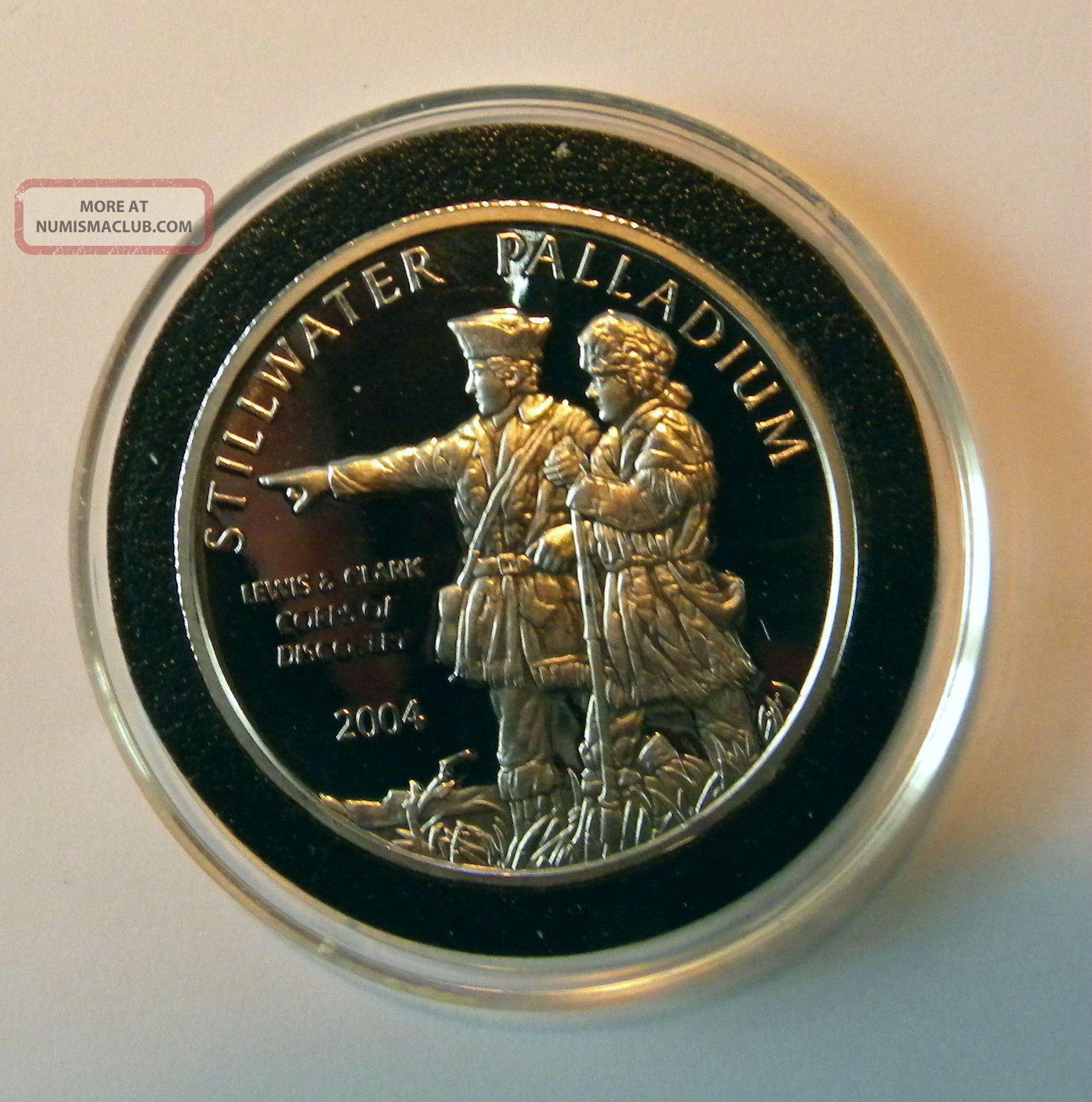 2004 Stillwater Lewis & Clark 1 Oz.  9995 Palladium Coin Bullion photo