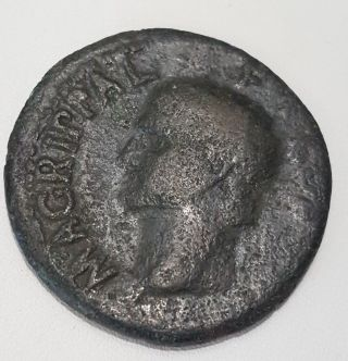 Marcus Vipsanius Agrippa Augustus General Ancient Roman Coin By Caligula photo