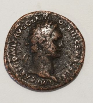 Roman Coin Domitian 81 - 96 Ad Bronze photo