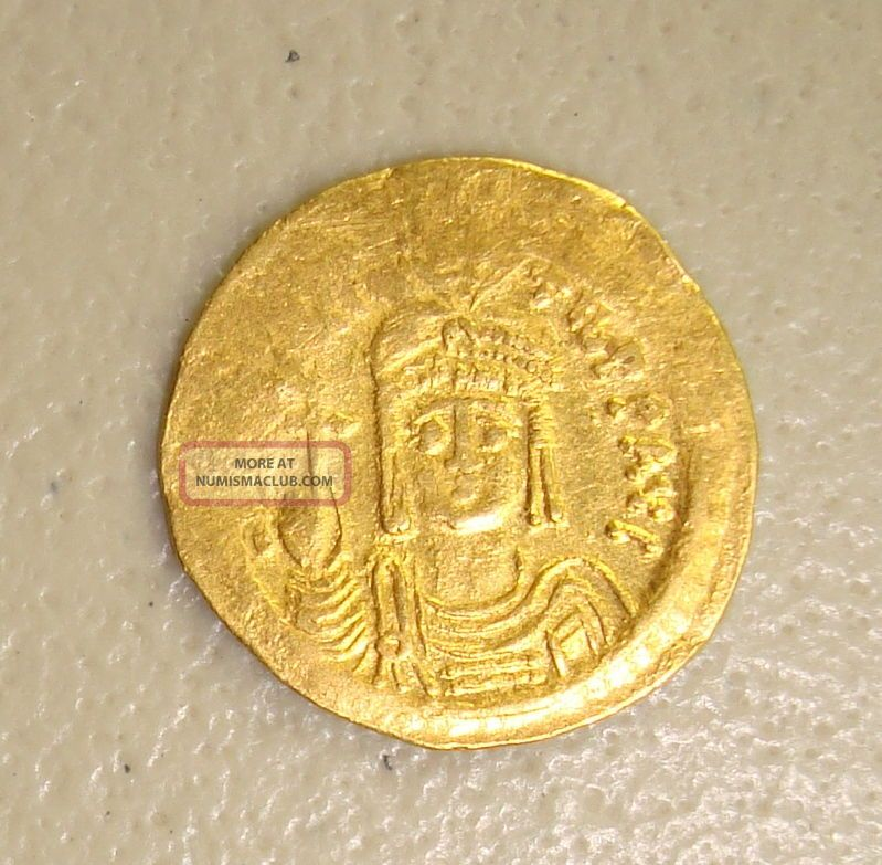 Ad 582 - 602 Maurice Tiberius Ancient Byzantine Gold Solidus Vf Coins: Ancient photo