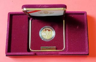 Proof 1995 - W Us Gold $5 Olympic Torch Runner Commemorative Proof photo