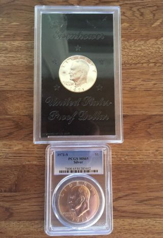 1971 Silver Ike Ms And Proof photo