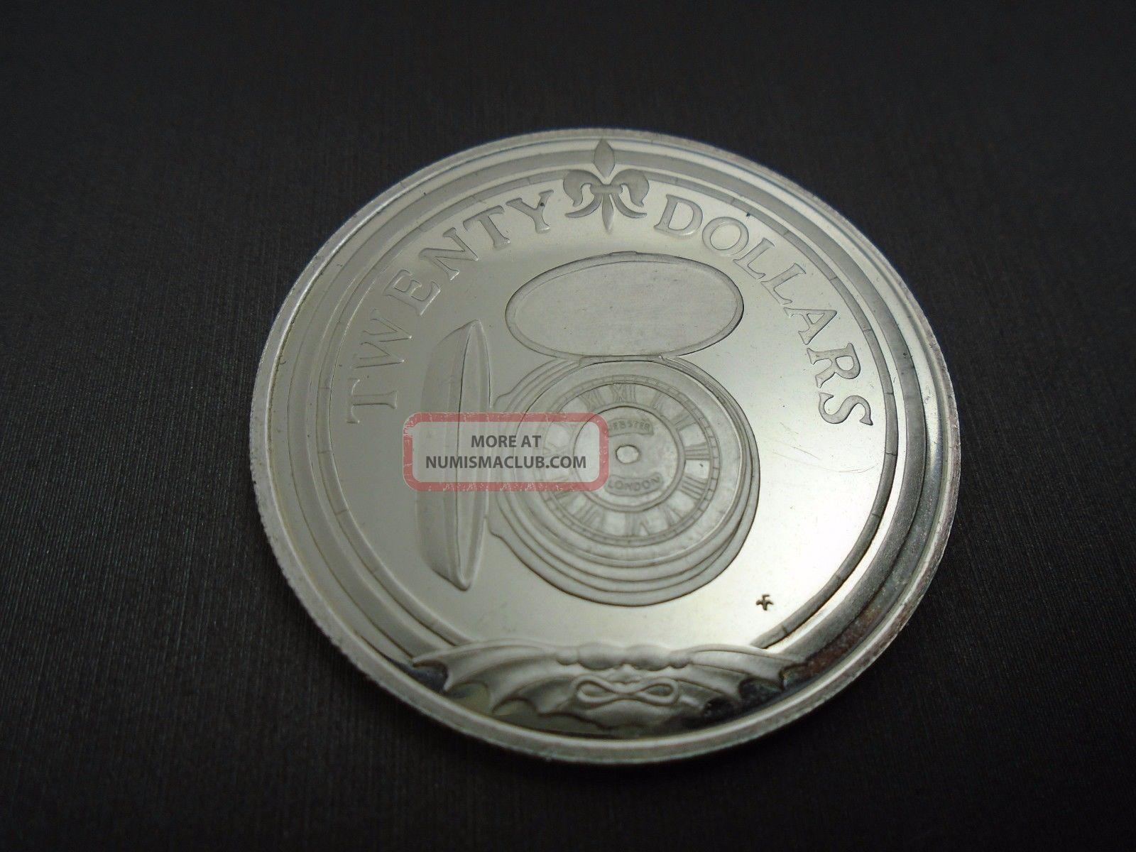 British Virgin Islands  Elizabeth The Second Twenty Dollars Coin