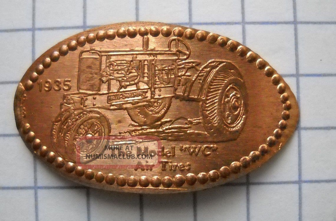 1935 Allis Chalmers Wc Elongated Penny Usa Cent Antique Tractor Souvenir Coin Exonumia photo