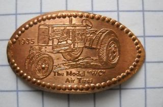1935 Allis Chalmers Wc Elongated Penny Usa Cent Antique Tractor Souvenir Coin photo