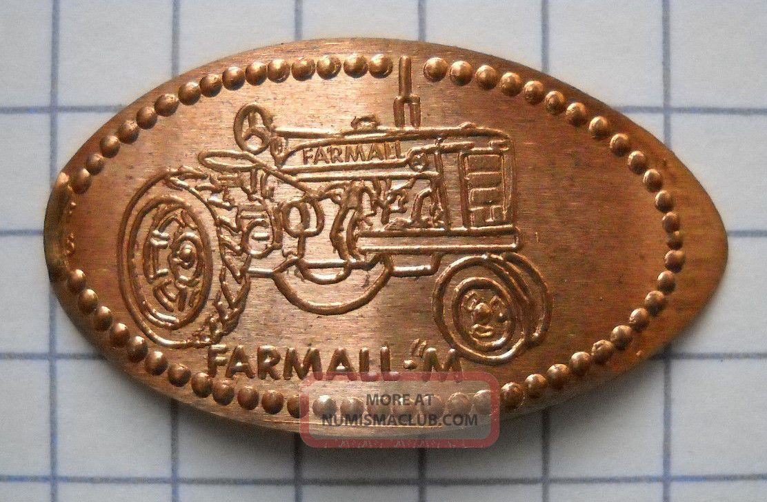 Farmall M Elongated Penny Usa Cent Antique Tractor Souvenir Coin Exonumia photo