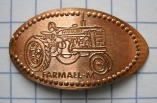Farmall M Elongated Penny Usa Cent Antique Tractor Souvenir Coin photo