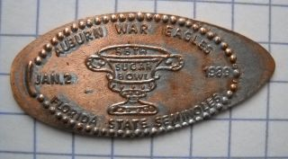 Sugar Bowl 1989 Elongated Penny La Usa Cent Auburn Florida State Souvenir Coin photo