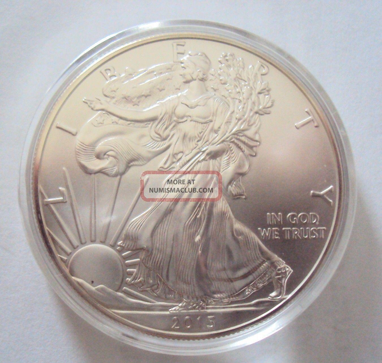 2015 American Silver Eagle.  999 1 Oz $1 Silver Bullion Coin In H40 Holder Silver photo