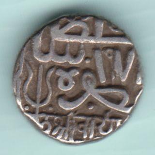 Kutch Bhuj State - Shree Raidhanji - One Kori - Extremely Rarest Silver Coin photo