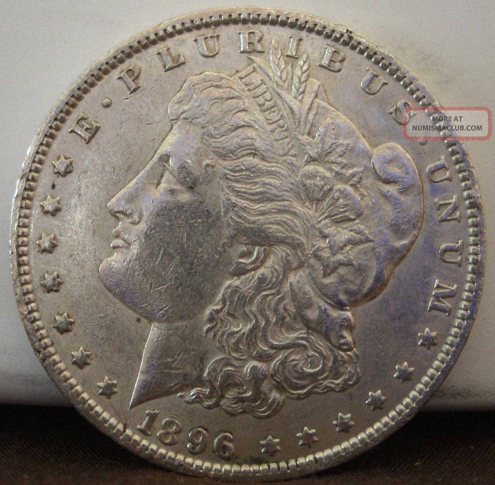 1896 $1 Morgan Silver Dollar 953 Dollars photo