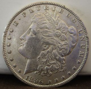 1896 $1 Morgan Silver Dollar 953 photo