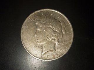 1922 Silver Dollar Peace Dollar D Denver photo