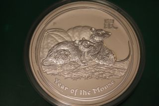 Pre - - 2008 Australia 1 Kilo Silver.  999 Lunar Mouse Rat Bu Series Ii Perth photo
