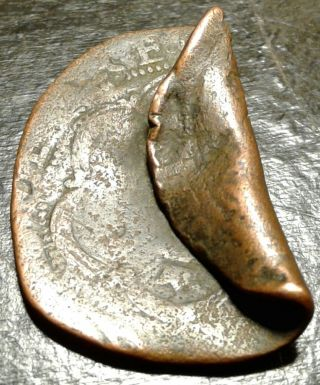 Large Pirate Spanish Cob Dated Bent Coin Of King Philip 11 ☆found On Oak Island☆ photo