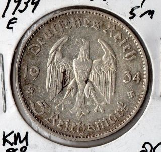 1934e Germany 5 Mark photo